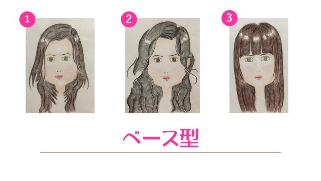 顔型診断 ベース型 ロング