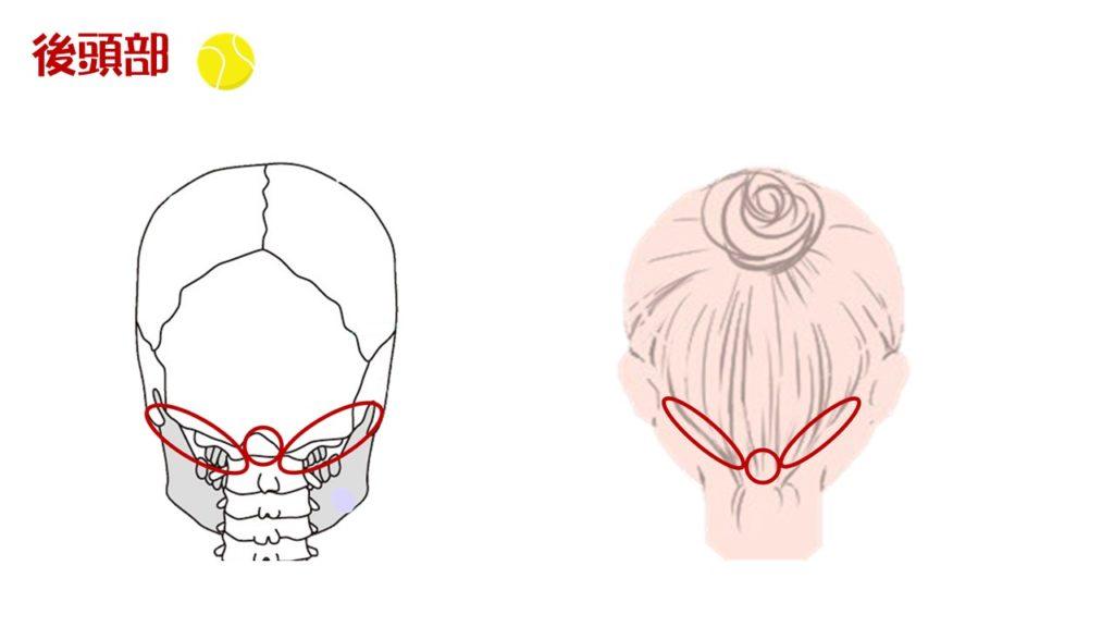 後頭部 頭皮マッサージ